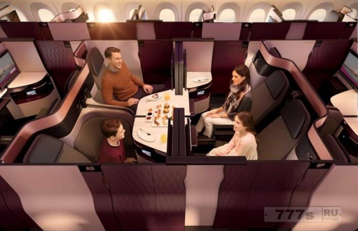 Катарские Авиалинии вводят двуспальные кровати в бизнес-классе.