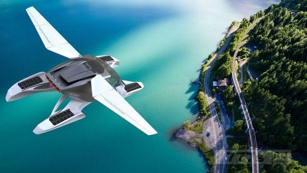Невероятный летающий автомобиль с электрическим двигателем и складными крыльями обещает освобождение от пробок.