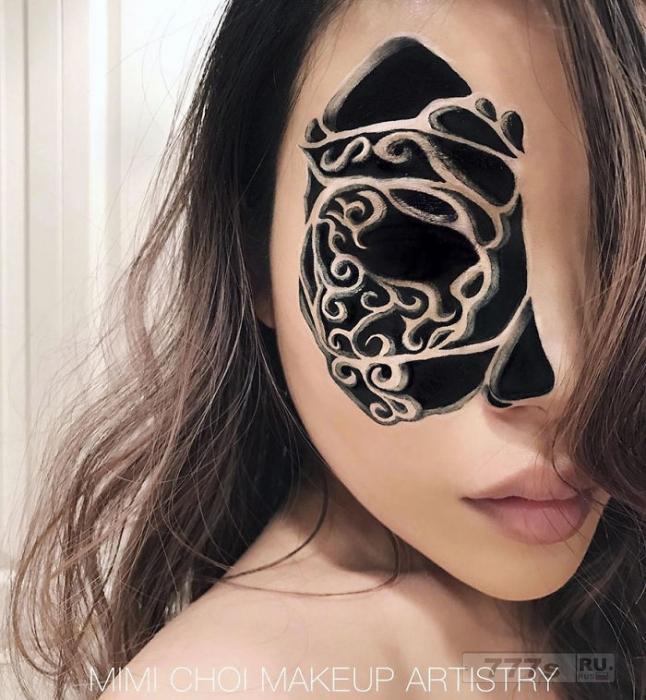 Взгляните на этот безумный макияж, создающий непередаваемые зрительные иллюзии.