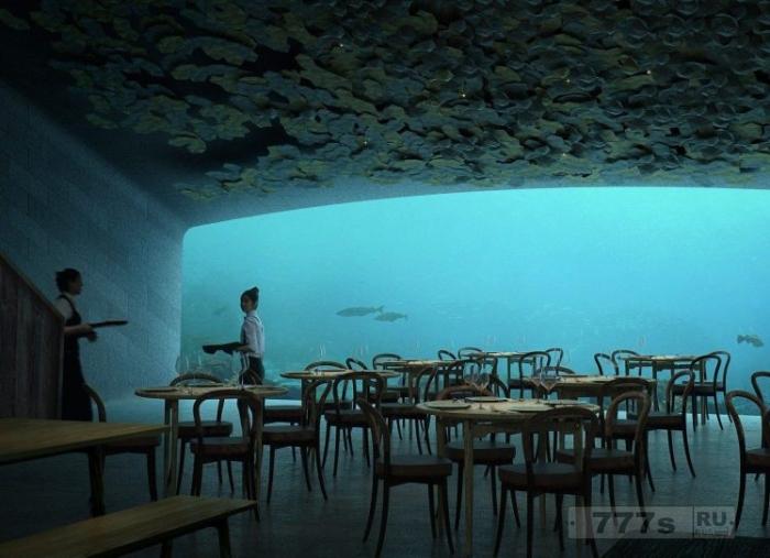 На побережье Норвегии открывается подводный ресторан.