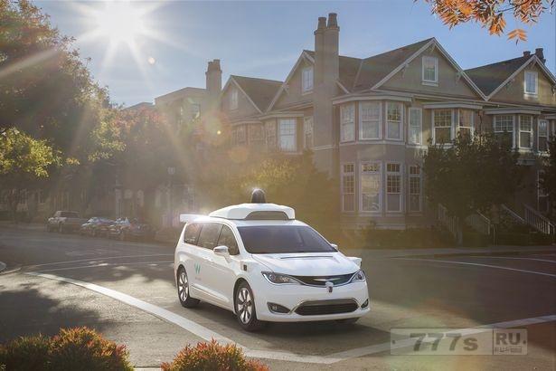 Гугл с автомобилем Waymo обгоняет Uber и начинает первые поездки как такси без водителя.