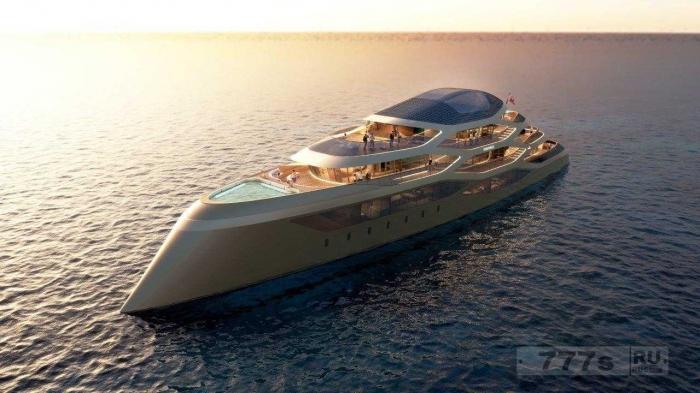 Специалисты фирмы Benetti представили вариант концепта шикарной яхты