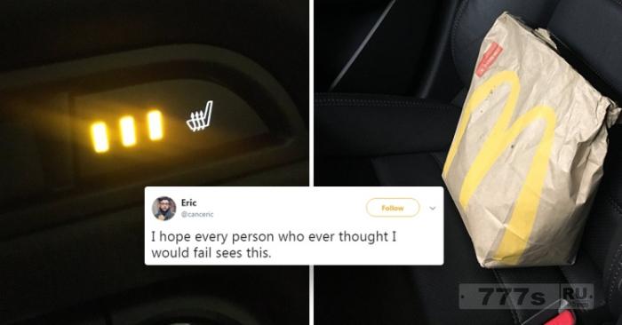Парень придумал гениальный хак для подогрева быстрого питания в автомобиле