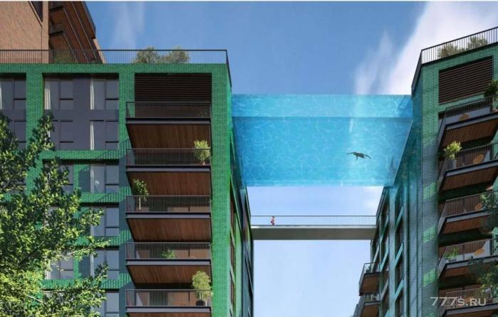 Первый в мире небоскреб, у которого бассейн находится на высоте 34,5 метра над Лондоном.