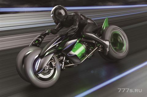 Kawasaki показывает футуристический супербайк в стиле Tron - с невероятной технологией изменения формы