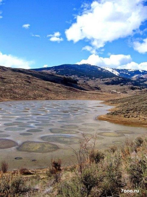 Озеро с пятнами