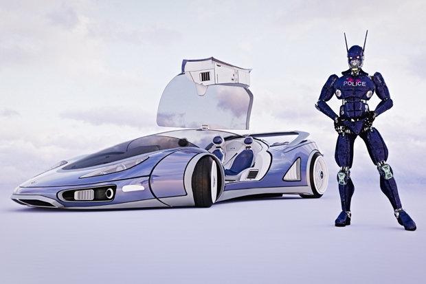 Автомобильный гигант Ford, разрабатывает полицейский автомобиль, управляемый ИИ