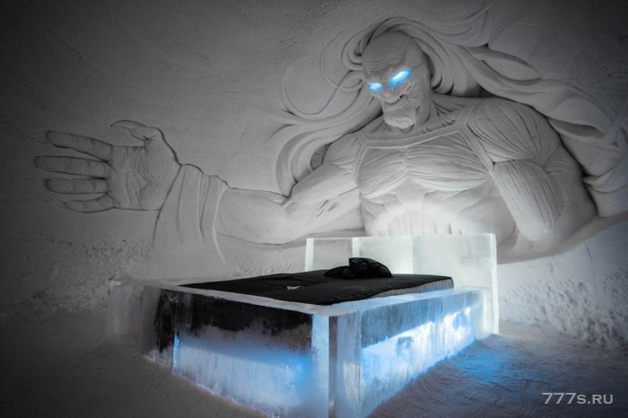 В Финской Лапландии открылся тематический отель «Игр Престола», поэтому теперь вы можете спать под ярким блеском «Белого Уокера»