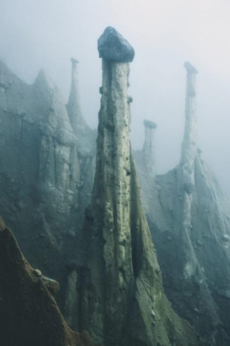 Наличие инопланетного пейзажа там, где есть Альпы в Италии