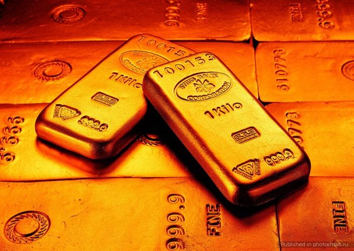 Какое вещество расположено перед золотом
