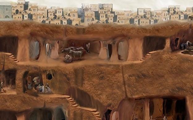 Город под землей в Турции