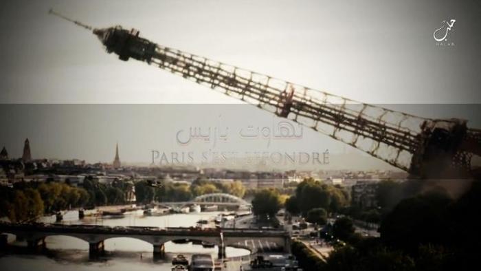 ИГИЛ угрожает вторгнуться в Париж в ближайшем будущем, демонстрируя нападение на Эйфелеву башню в новом видео