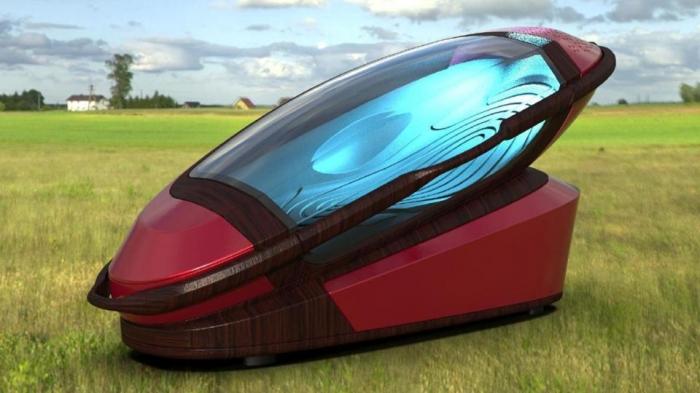 Доктор создал жуткую переносную «машину для самоубийства» со съемным гробом, которая позволяет владельцам убить себя в любое время и в любом месте