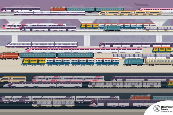 Мозговой штурм. Можете ли вы найти поезд, едущий в противоположную сторону от других поездов?