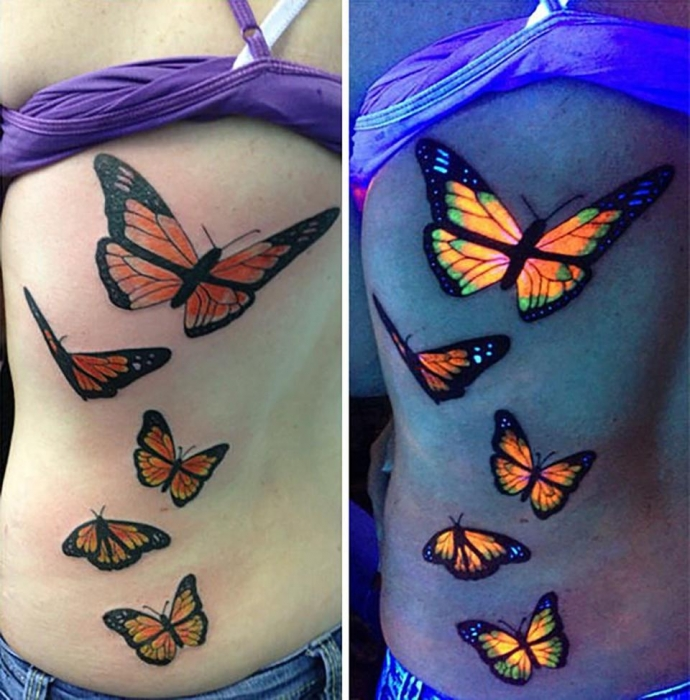 Татуировки, активируемые ультрафиолетом, являются последней красочной тенденцией ... они невероятны