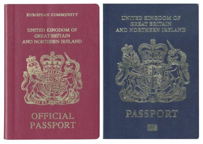 Британские синие паспорта после Брексита будут выпускаться французской-голландской компанией