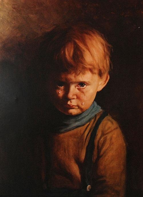 Секрет картины с плачущим мальчиком