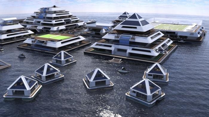 Плавучий футуристический город пирамид «станет реальностью к 2022 году»