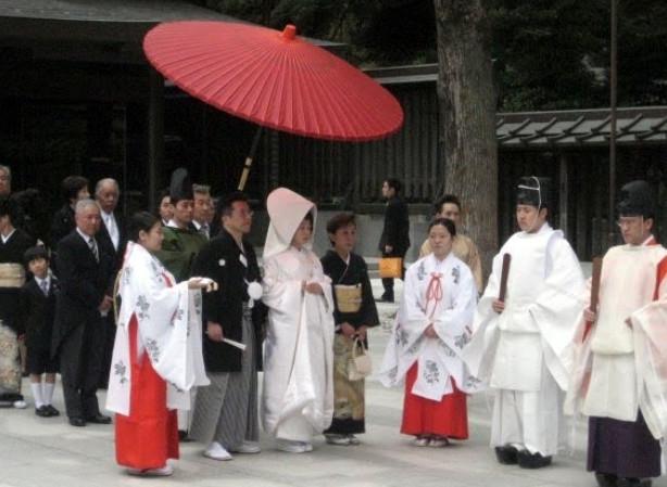 Традиции японской свадьбы