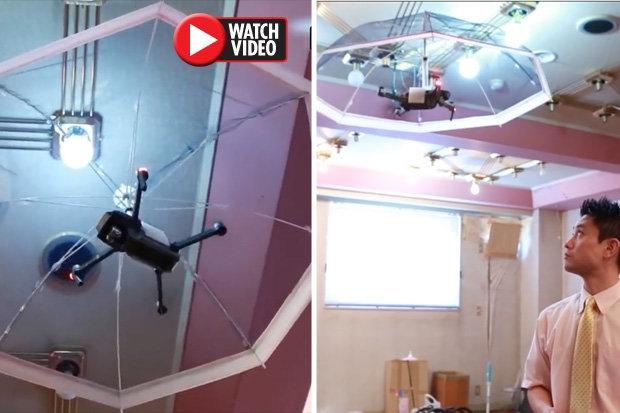 Дрон Зонтик, который использует ИИ для летающего зонтика