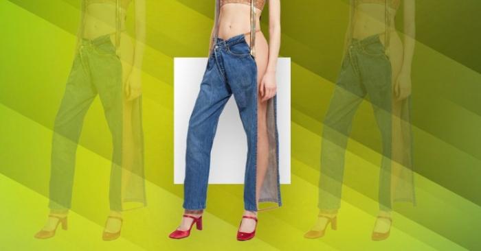 Смешно платить £ 467,85 за какие-то джинсы с сетчатой полосой, чтобы вы могли показать бок вашей ноги