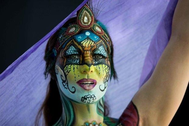 Удивительные картины показывают модели на Мировом Bodypainting фестивале
