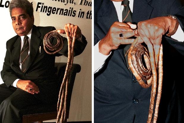 Мужчина с самыми длинными ногтями в мире наконец подстриг их через 66 лет