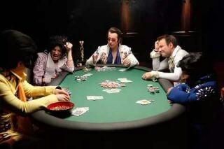 Удачная сделка между игроками в покер