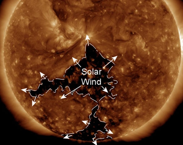 Земля находится под угрозой после образования огромного коронального отверстия на Солнце