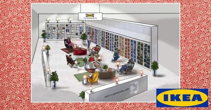ИКЕА начала строить читальные залы, где вы можете бесплатно взять книги домой