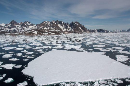 Районы Арктики где был самый мощный морской лёд в настоящее время разрушаются