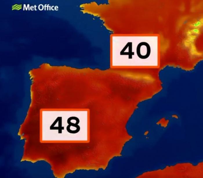 На этой неделе может быть 48 ° C в Испании - самая жаркая температура в Европе
