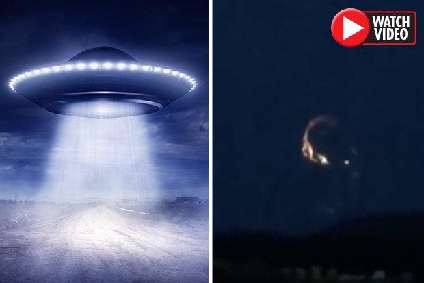 НЛО сбитое в Шотландии, появилось на видео в интернете