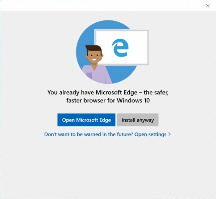 Microsoft навязчиво продвигает браузер Edge