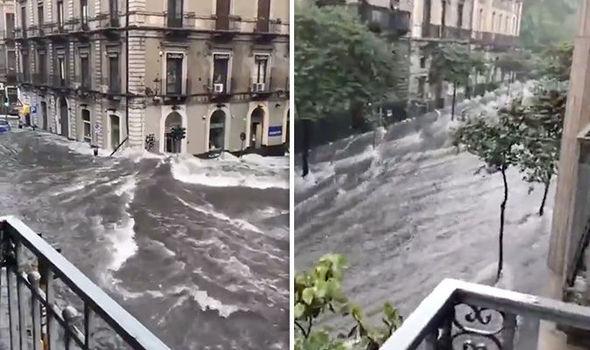 Видио итальянского наводнения: Видеоролики показывают как улицы Италии исчезают под водой