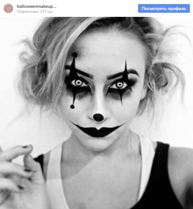 Идеи макияжа на Хэллоуин 2018 - от клоунов и чертей до русалок и скелетов