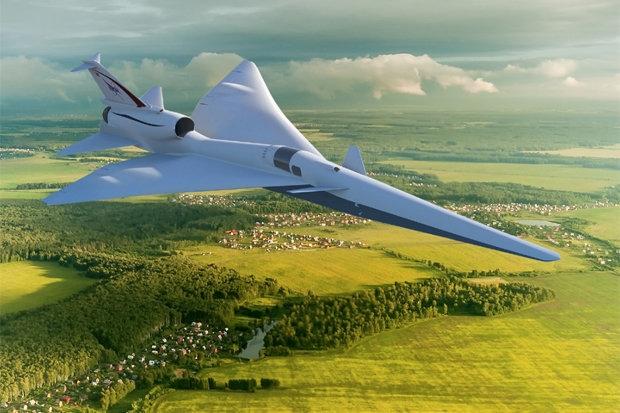 НАСА запускает тихий сверхзвуковой самолет, который сократит время полета в два раза