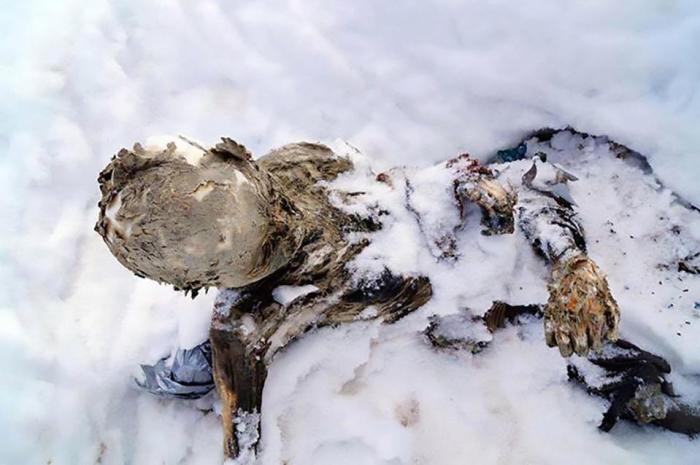 Найдены мyмифицированные тела трех альпинистов, вмерзших в лёд на высоте 5610 м