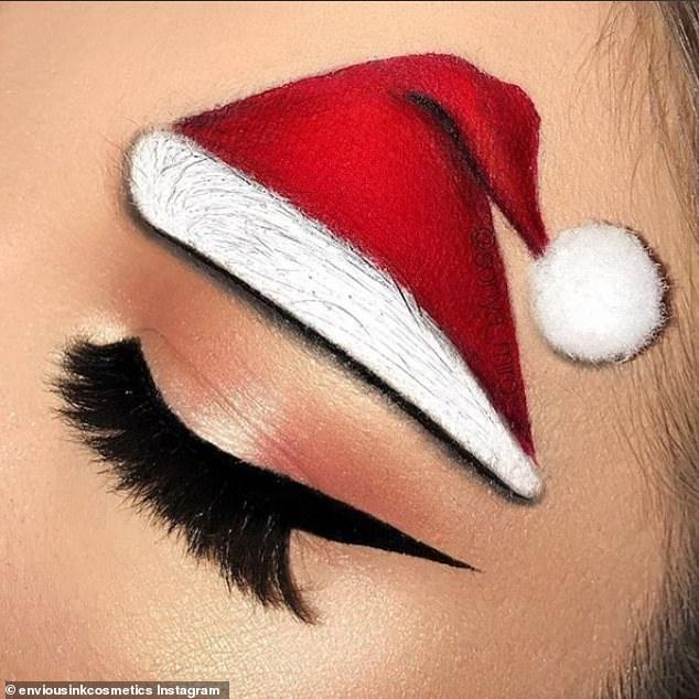 Брови, украшенные блеском, ёлочками и шляпами Санты заполонили Инстаграм - начался праздничный сезон