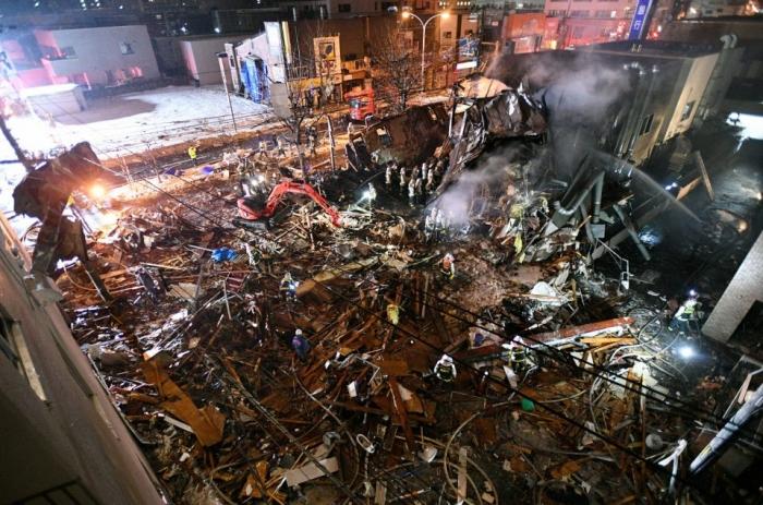 Взорвался ресторан в Сaппоро, Япония