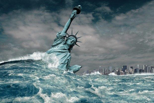 Нью-Йорк может быть затоплен таянием полярных льдов