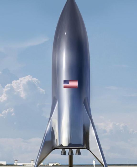 Илон Маск предъявил потрясающую картинку недавно построенной ракеты SpаceX Stаrship