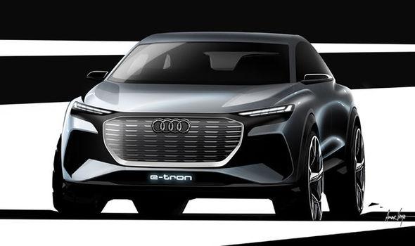 Audi Q4 электрический концепт-кар Е-Tron дразнит всех перед дебютом на Женевском автосалоне