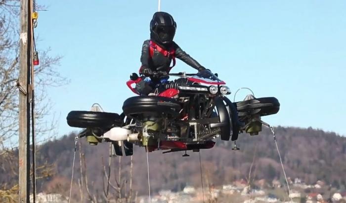 Французская компания показала «первый в мире летающий мотоцикл», который за 60 секунд превращается в квадрокоптер ценой 424 000 фунтов стерлингов