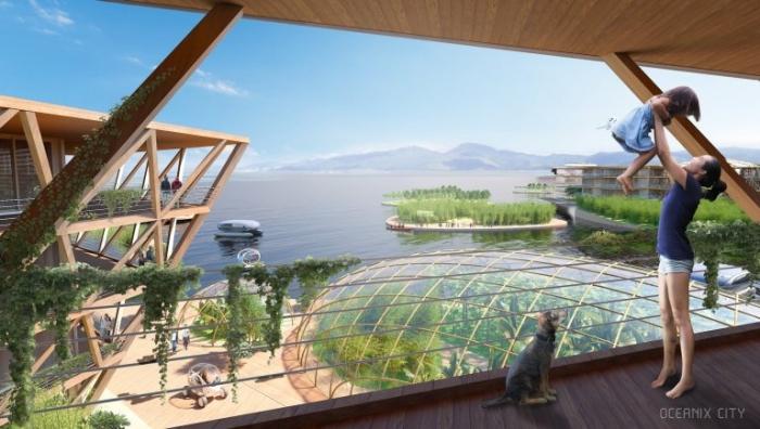 Плавающий город будущего может стать способом выживания людей в условиях изменения климата