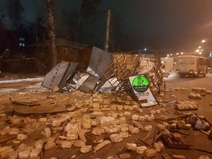 Хлеб вывалился на Пулковское шоссе
