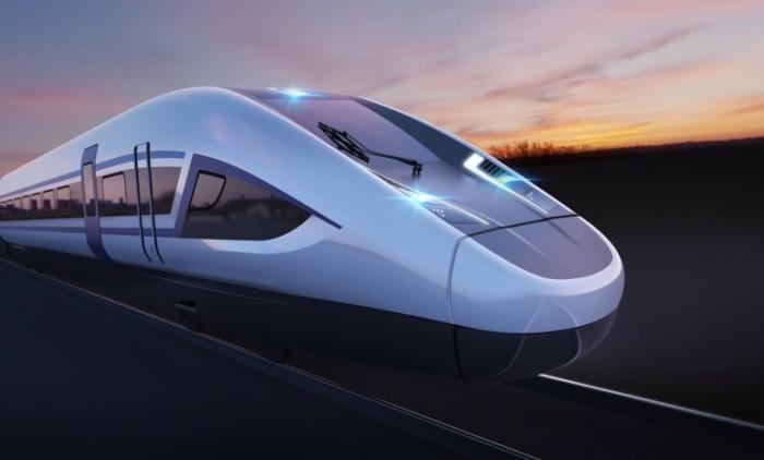 Первые изображения скоростных поездов HS2 в Англии