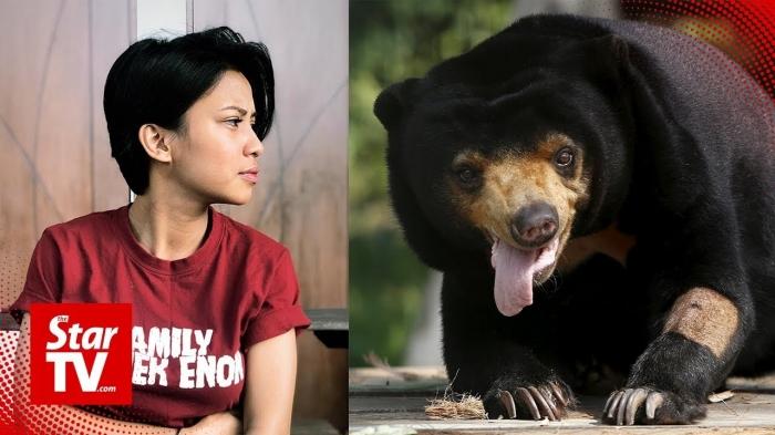 Арестовали певицу за то, что держала медведя как собаку