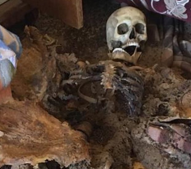 Мумифицированные останки человека, съеденного мухами, обнаруженны в квартире, которая была заперта шесть месяцев