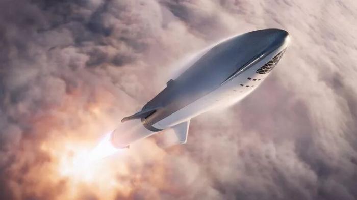 Взгляните, как прототип Starhopper Элона Маска поднимается на 150 метров над пусковой площадкой и садится в облаке дыма